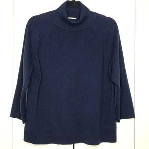 Talbots Navy Turtleneck Sweater